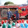 避難訓練に消防車がきてくれたよ